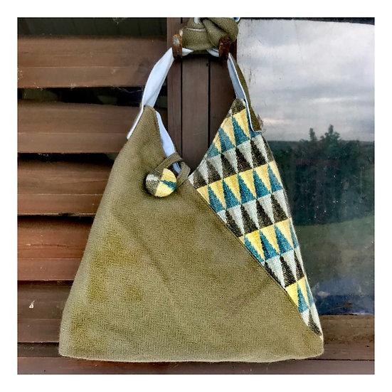 Origami Bag in Sage tweeds