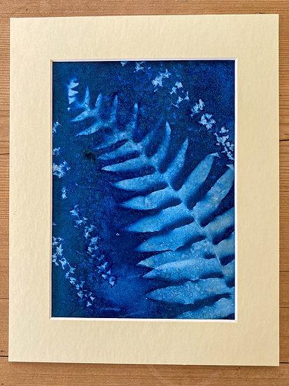 Original Fern and Lavender Cyanotype