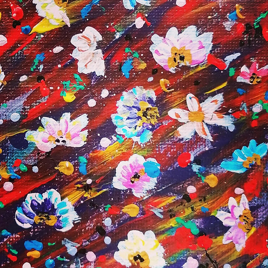 'Flowerful' Original Acrylic Painting by Celf Young Art