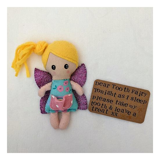 Handmade Fabric Tooth Fairy Girl Doll