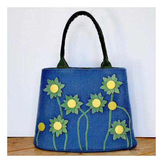 Dainty Bag with Appliqué Flowers