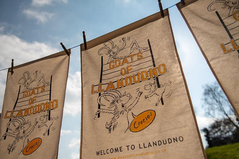 Goats of Llandudno Organic Tea Towel