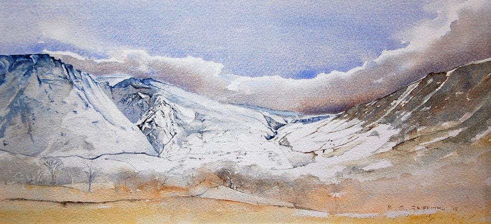 'Moel Wnion, Snowdonia' Limited Edition Mounted Print
