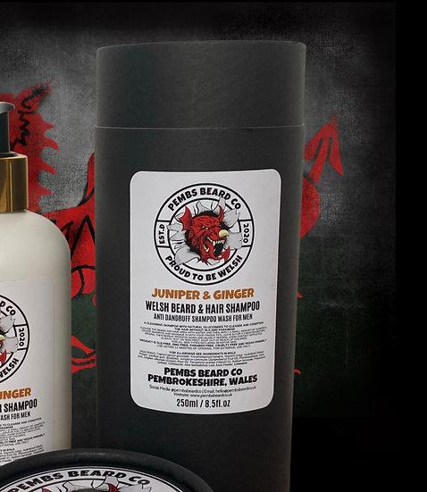 Juniper & Ginger Welsh Beard and Hair Shampoo Wash 250ml