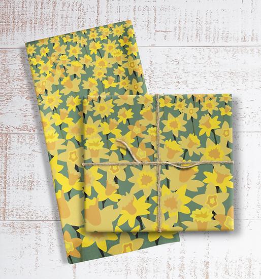 Daffodil Field Tea Towel