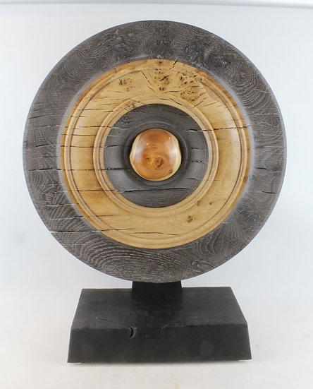 """""""Llygad"""" Oak Sculpture"""