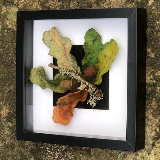 Leaves and Acorns Framed Wall Art
