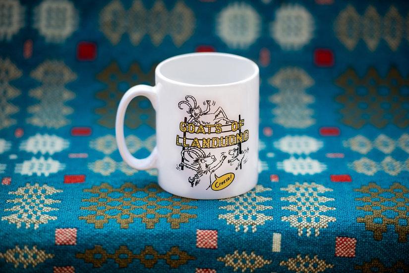 Goats of Llandudno 'Croeso' Mug