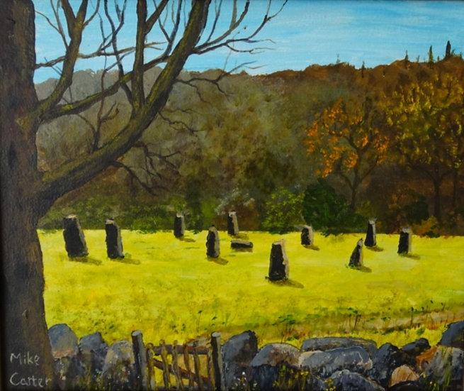 'Gorsedd Stones, Llanwrst' Original Oil Painting