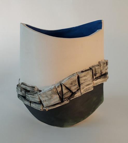 'Dry Stone Wall(1)' Ceramic Sculpture