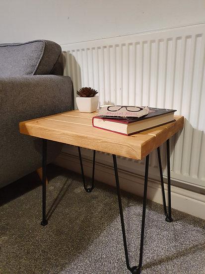Small Pine Bedside / Coffee Pin Leg Table