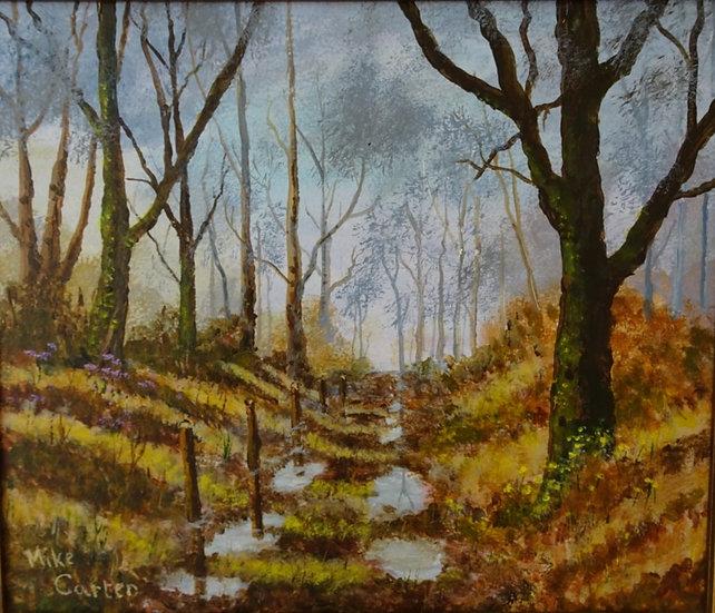 'Autumn Lane, Llanbedr y Cennin' Original Oil Painting