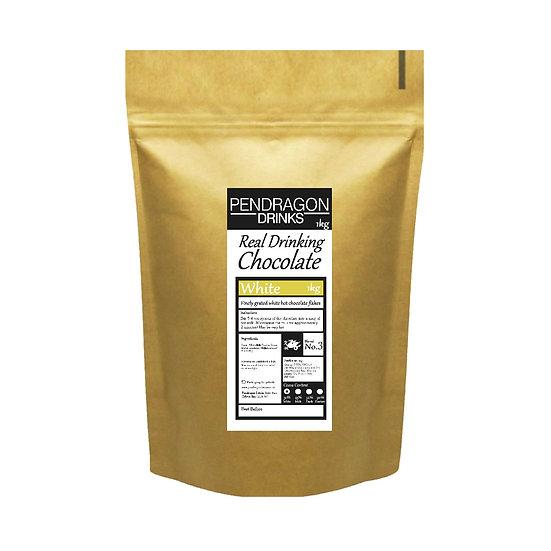 1kg Real Drinking Chocolate - White, Milk or Dark