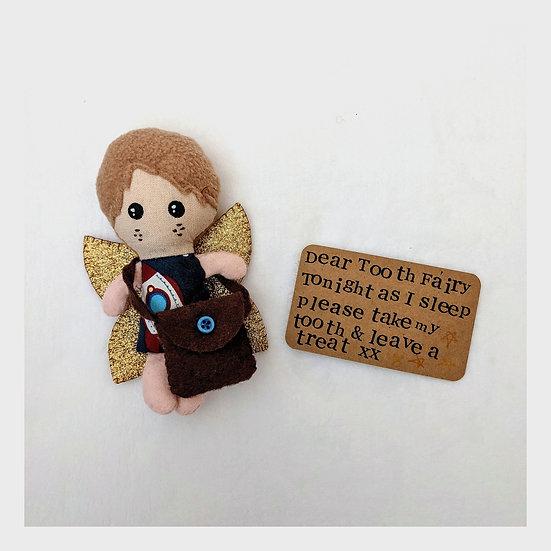 Handmade Fabric Tooth Fairy Boy Doll