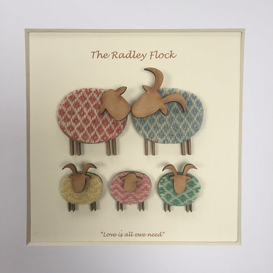 Personalised Family Flock with 3 children