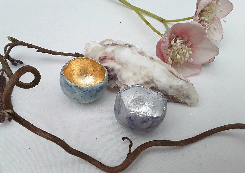 Semi-Porcelain earring dish