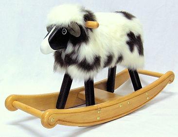 Black and white rocking sheep