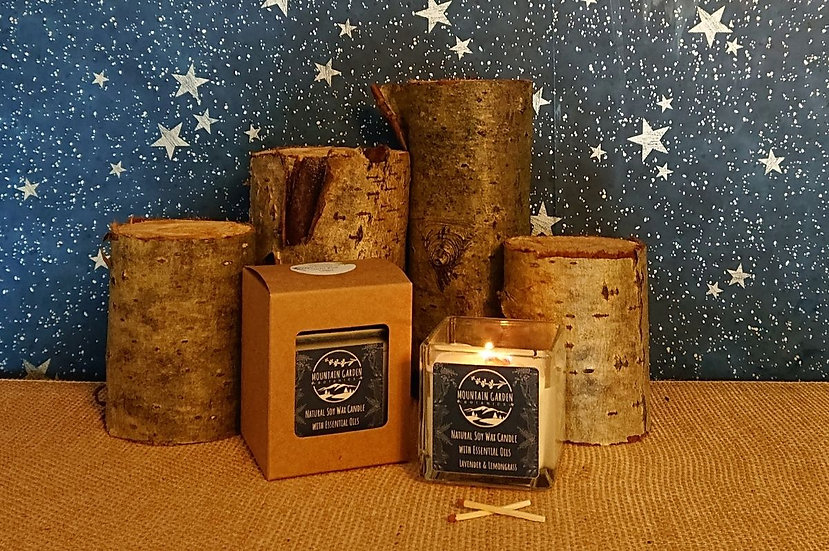 Lavender & Lemongrass  Pure Essential Oil Wooden Crackl