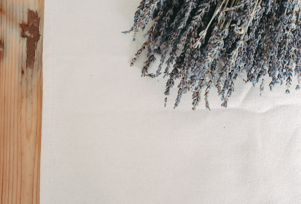 White Linen Tassel Table Runner