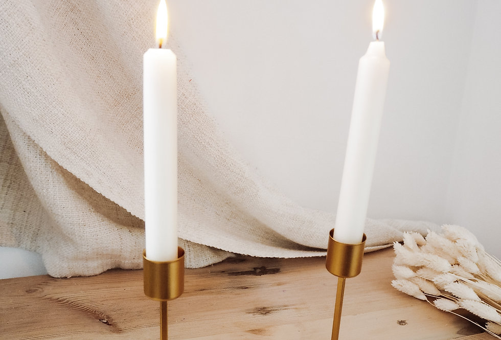 Gold Taper Candle Stick Holder