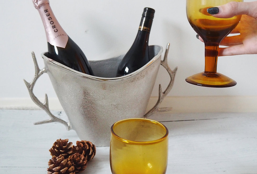 Silver Antler Champagne Bucket/Wine Cooler