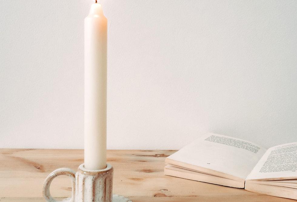 Stoneware Taper Candle Stick Holder