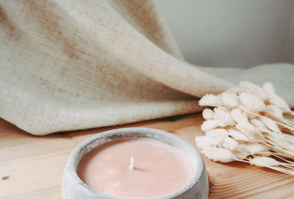 Concrete Citronella Candle Pot