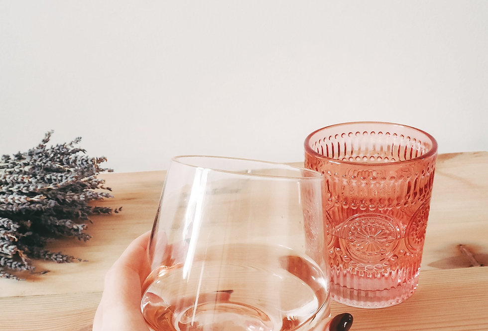 Rose Pink Glass Tumbler
