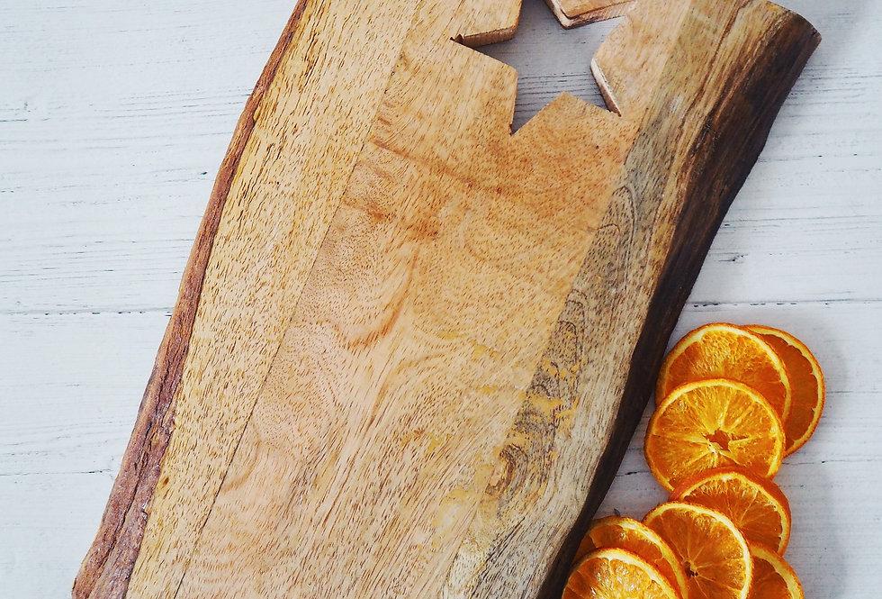 Natural Wooden Rectangle Serving Board