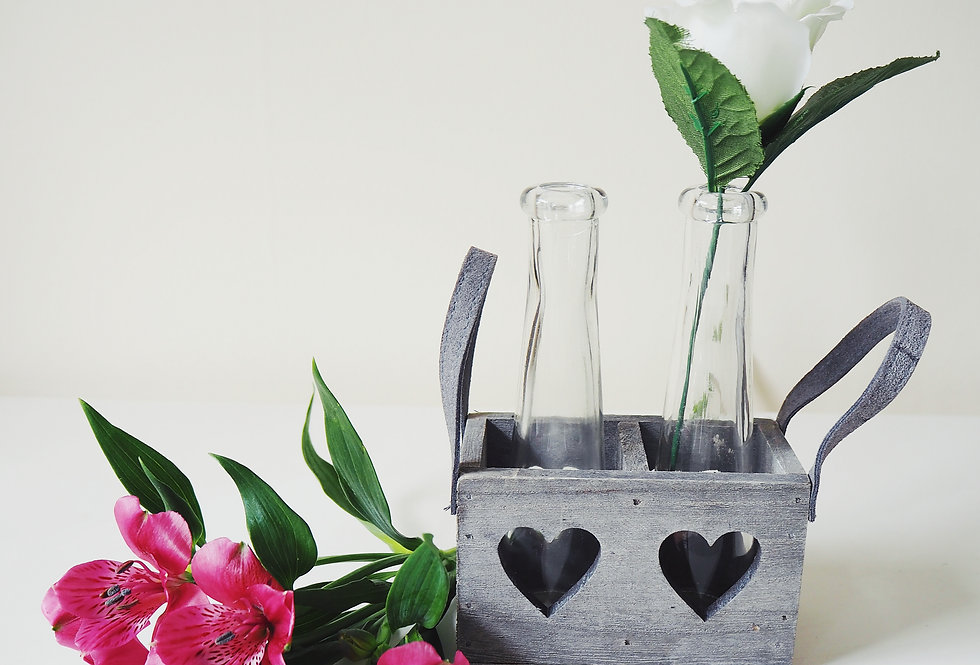 Rustic Wooden Bottle Vase