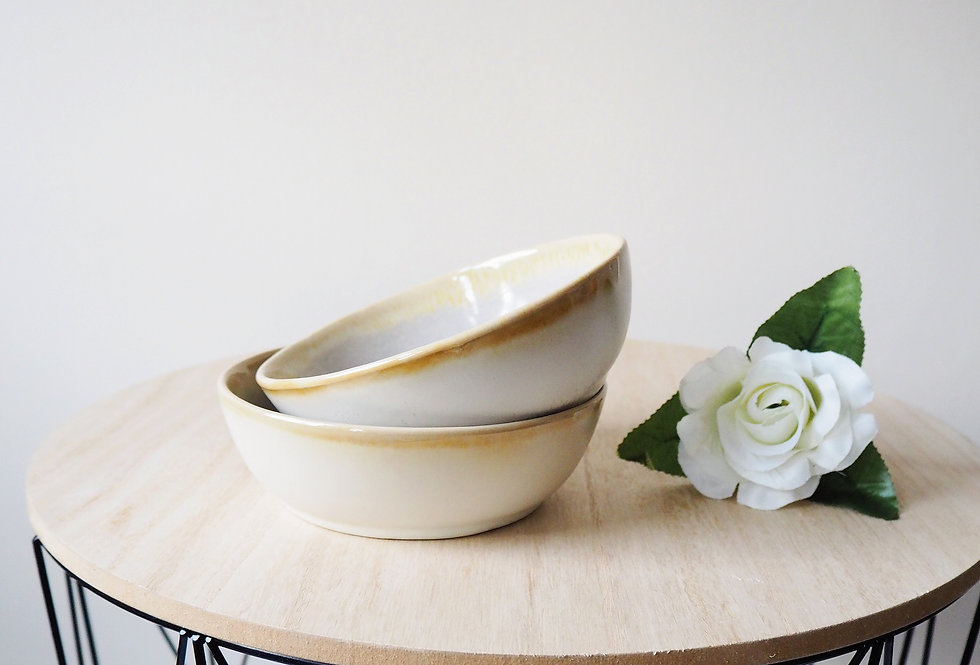 Fawn Stoneware Snack Bowl