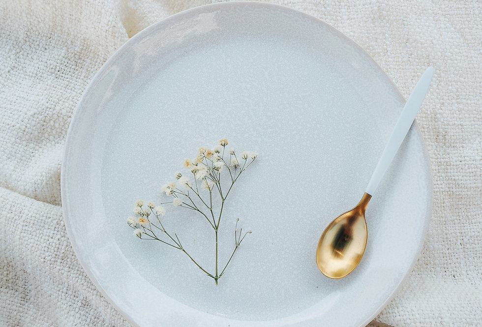 White Speckled Stoneware Side Plate