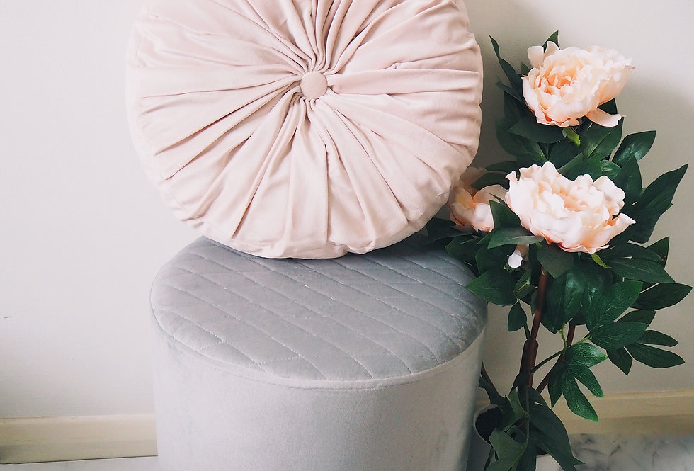 Velvet Pouffe (Multiple Colours)