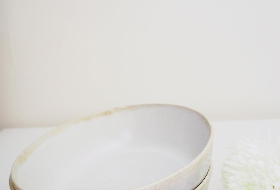 Large Fawn Stoneware Pasta Bowl