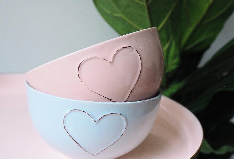 Heart Embossed Breakfast Bowl