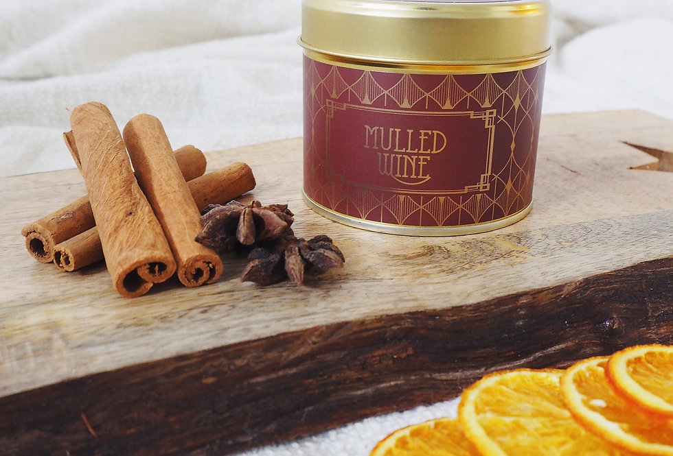 Mulled Wine Scented Tin Candle