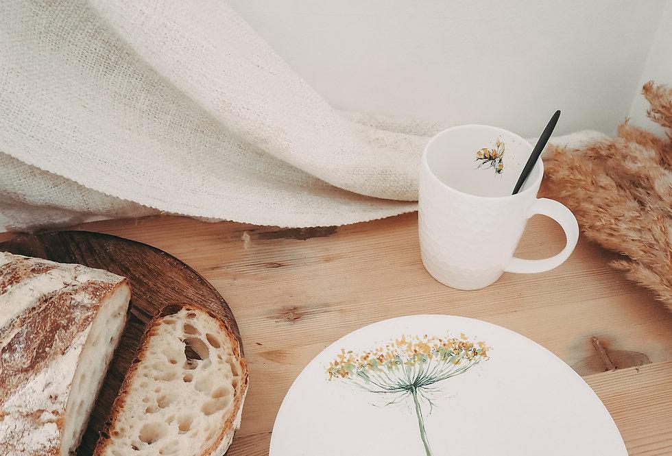 Single Bloom Breakfast Plate