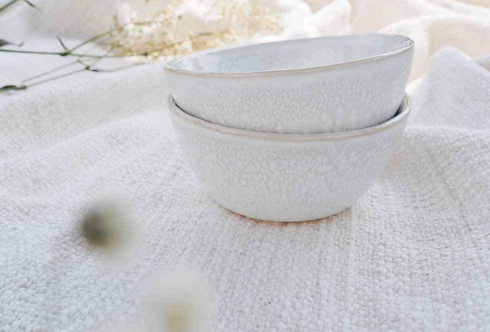 White Speckled Stoneware Nibble Bowl