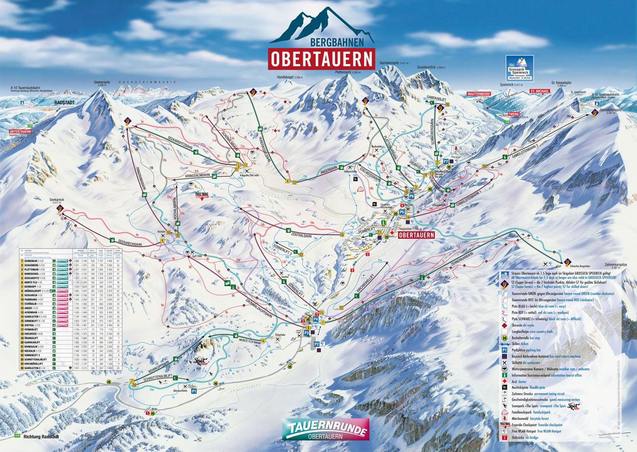 Ski mapa Obertauerna