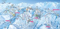 Les Sybelles ski map