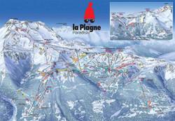 Ski map La plagne