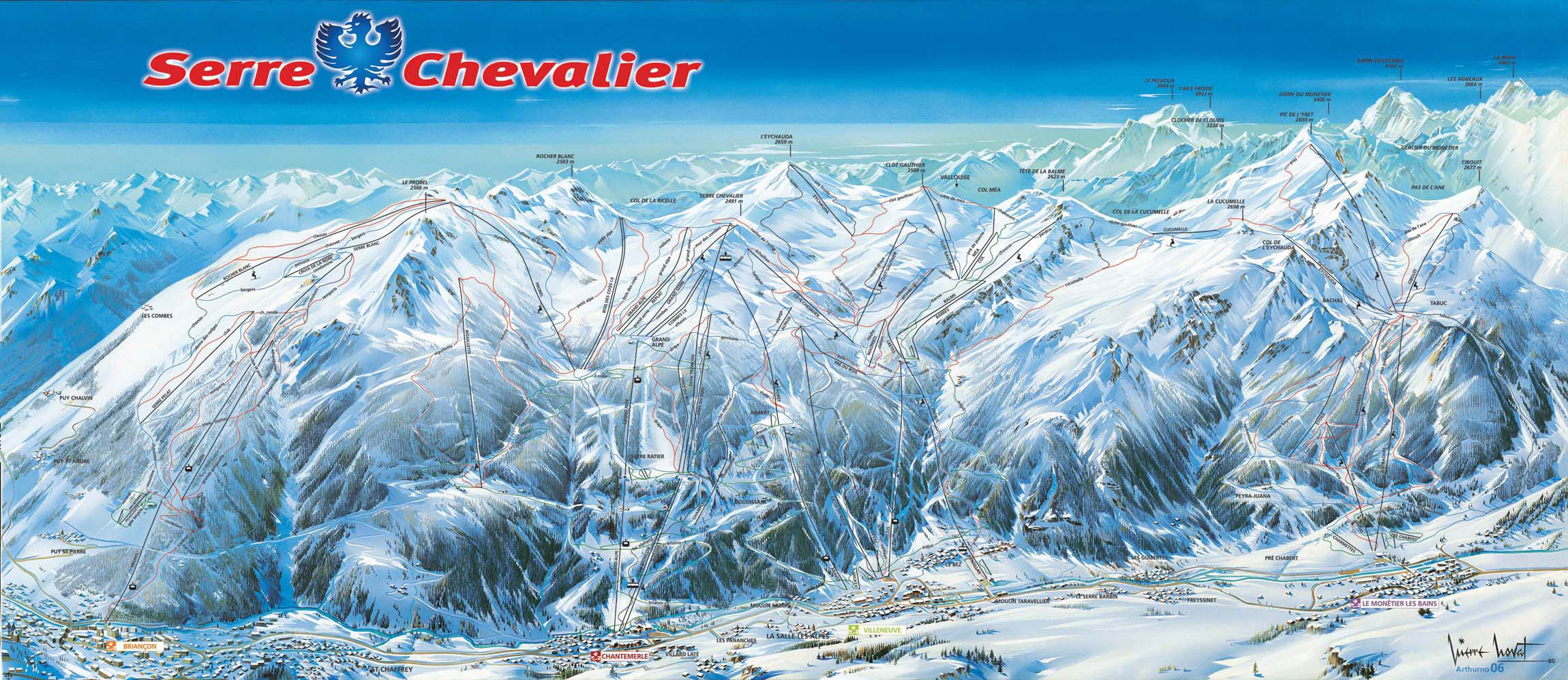 Serre chevalier ski map