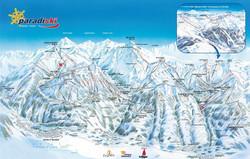 Les Arcs ski map