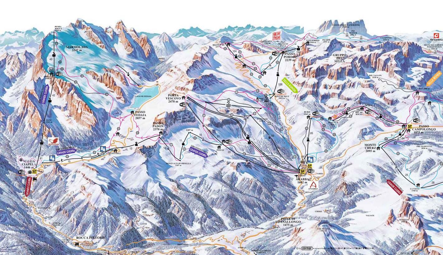 Arabba ski map