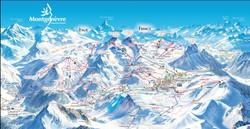 Montgenevre ski map