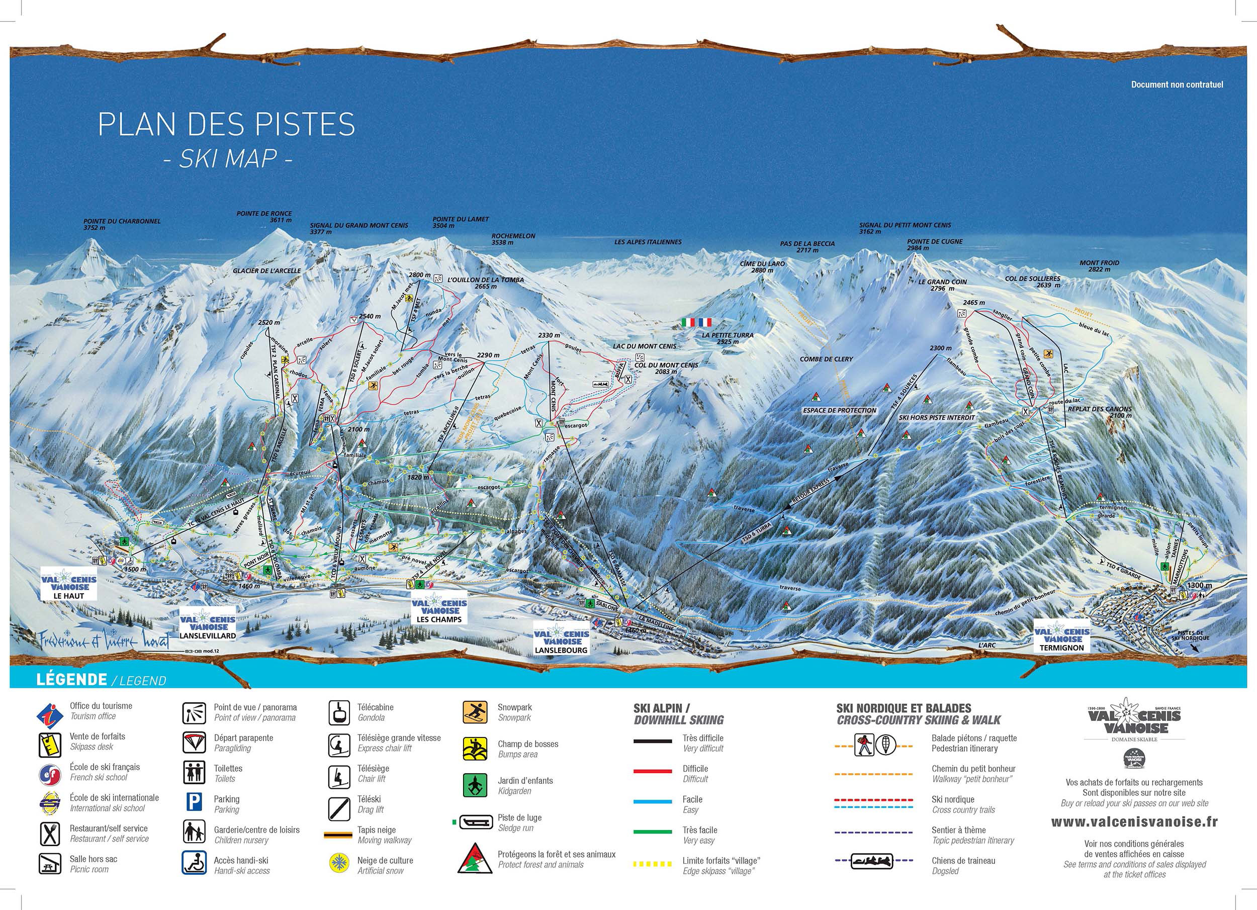 Ski map Val Cenis