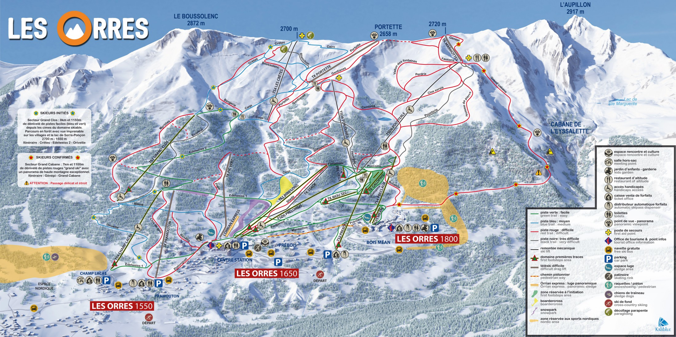 Les Orres ski map
