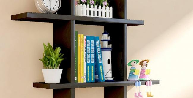 Wall Decor Shelf - Black - by Home2go