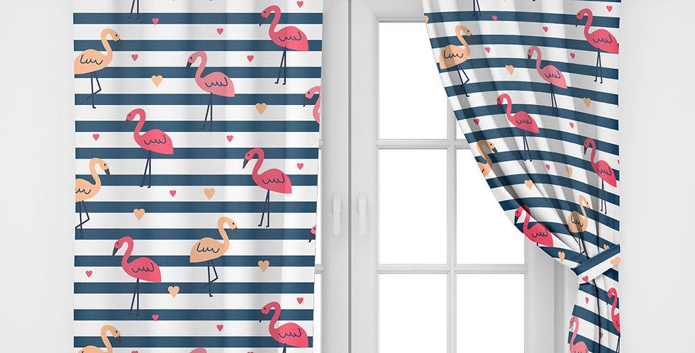 Home2Go Flamingo Double Curtain