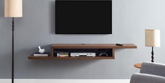 TV Floating Shelf, 135 cm - Brown
